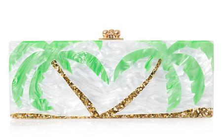 Beyonce on holiday in the dominican republic - handbags inspired by beyonce's holiday - palm tree clutch bag - celebrity holiday style - beyonce - celebrity fashion - handbag.com