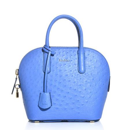 emily blunt baby tote bag - max mara blue ostrich bag -baby bag - handbag