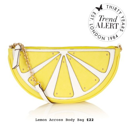 followfriday best handbag addicts - accessorize lemon slice handbag - shopping bag - handbag