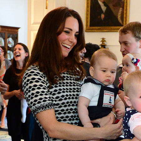 Prince George does playdate dungarees