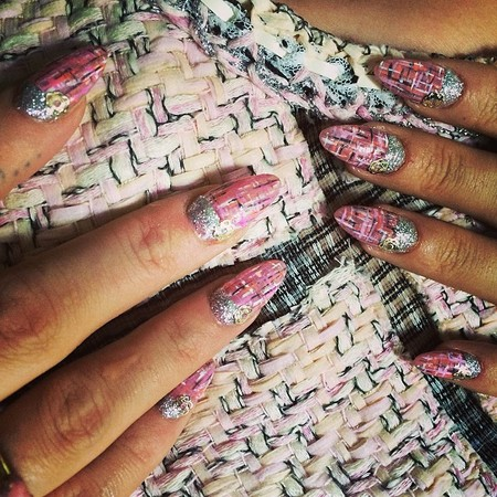 Lily Allen's Chanel nails