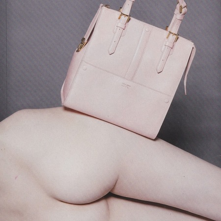 naked handbag photo shoot - evening standard - bum pic - handbag.com