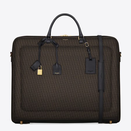 Yves Saint Laurent travel luggage - YSL monogrammed travel luggage - designer suitcases - best designer luggage - travel bag - handbag.com
