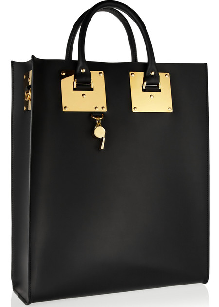 sophie hulme leather tote bag - black handbag - british designers - new designer bags - handbag.com
