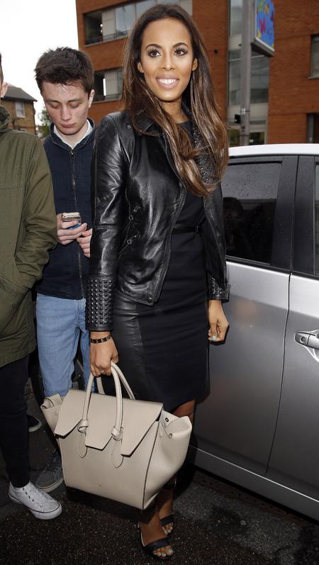 Rochelle Humes and her Celine Tie handbag