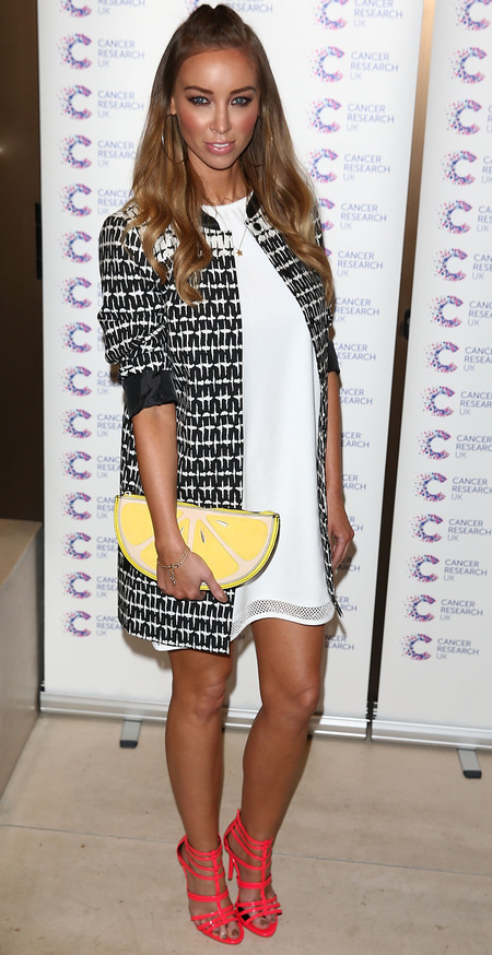 lauren pope lemon slice clutch bag - yellow clutch bag - high street fashion - towie style - handbag.com