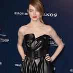 Emma Stone wows in leather Lanvin