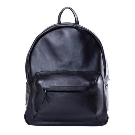 Black leather backpack - givenchy style - rihanna - Asya Malbershtein - handbag.com