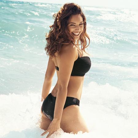 Black halterneck bikini