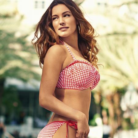 Gingham frill bikini