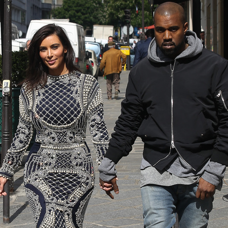 kim kardashian and kanye west - paris - wedding planning - balmain dress - handbag.com