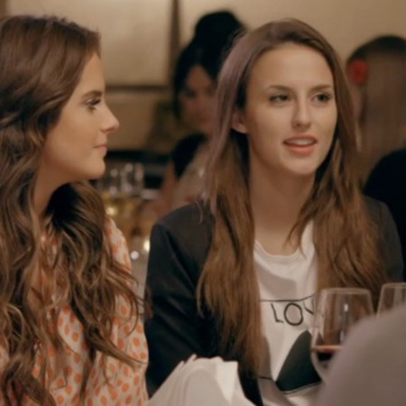 Lucy Watson - boohoo t-shirt - love with triange tee - made in chelsea - date with robbo - with binky - handbag.com