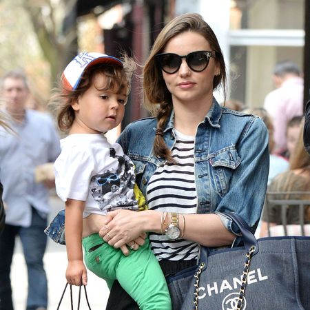 Miranda Kerr - chanel tote bag - baby bag - flynn - sightings - handbag.com