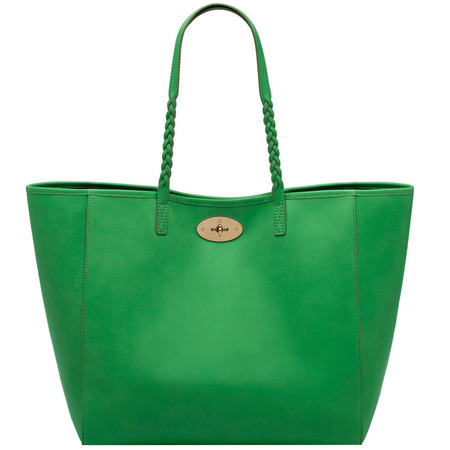 mulberry dorset bag - queen green - tote bag - plait details - everyday handbag - classic designer bags - handbag.com