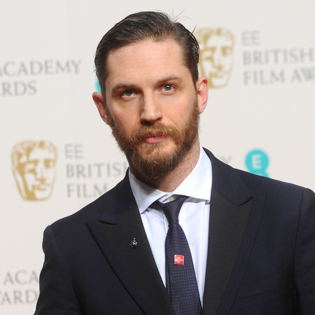 Tom Hardy at the BAFTAs - with beard - hot men with or without beards - handbag.com