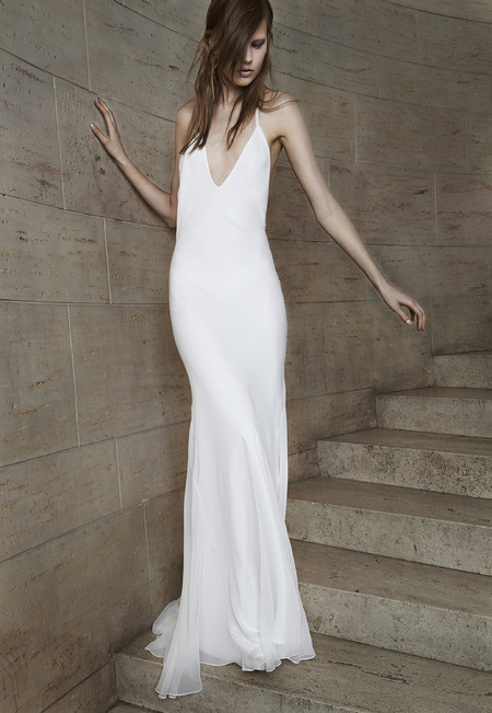 Vera Wang 90s slip wedding dress