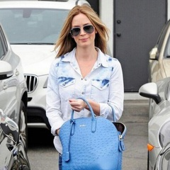 emily blunt - post baby body - twitter - workout - gym bag - handbag.com