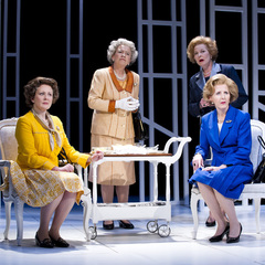 Handbagged at Vaudeville - west end play - review - all characters on stage - handbag.com
