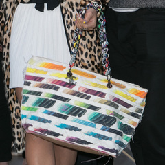 lily allen chanel handbag - rainbow brush strokes - chanel tote bag - spring summer 2014 - designer handbag collection - classic chanel bags - handbag.com