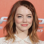 Emma Stone glams up festival hair