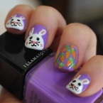 How do do Easter bunny nail art