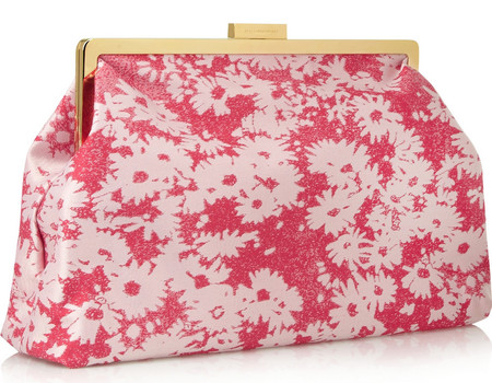 stella mccartney-handbag-pink-floral-clutch bag-summer 2014-designer bags-handbag.com