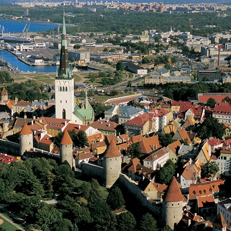 aerial shot, Estonia  - travel review - travel bag - handbag.com