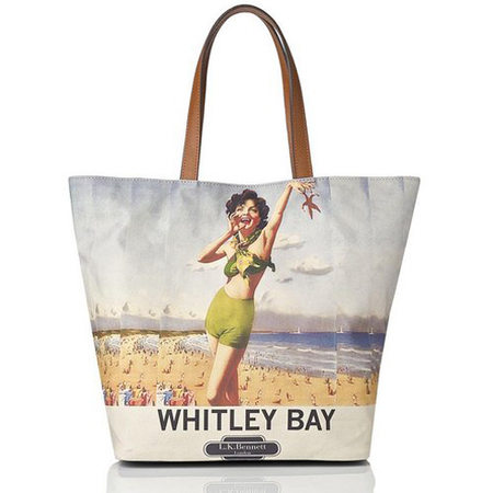 beach bag - lk bennett - Whitley bay Canvas Tote - summer holiday bag - handbag.com