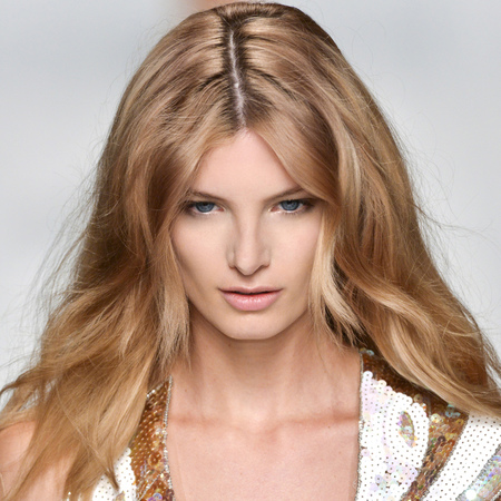 Blumarine fashion week ss14 - beach hair - festival beauty - tousled waves - long hair ideas - summer hairstyles - handbag.com