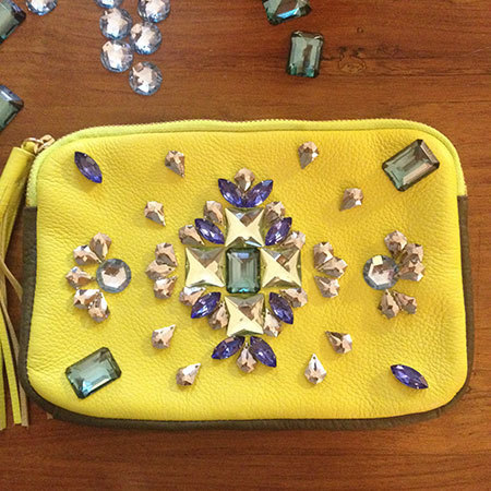 DIY fashion fix embellished clutch - shopping bag - handbag