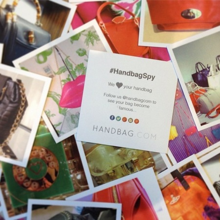 HandbagSpy backdrop of contact cards - #handbagspy - handbags - handbag.com