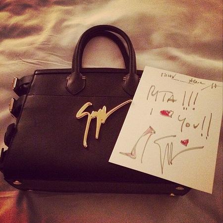 Leather Giuseppe Zanotti bag