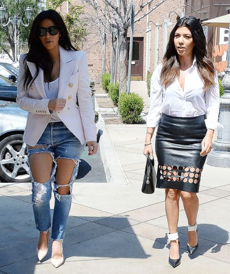 kim kardashian ripped jeans feature - shopping bag - handbag