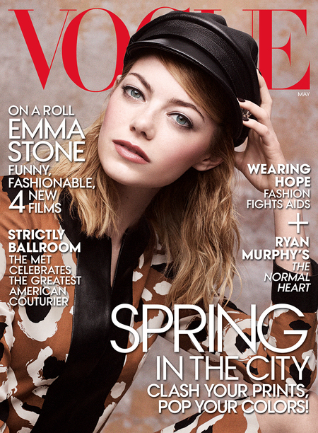 Emma Stone for Vogue magazine - Emma Stone wears hats - cover - fashion news - celebrity style news - handbag.com