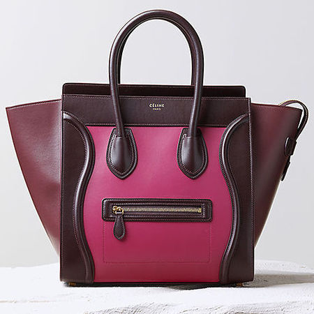 Celine berry coloured Trapeze bag