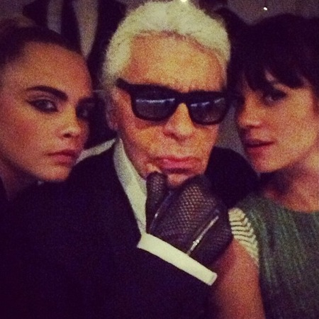 Lily Allen - Karl Largerfeld - Cara Delevingne - twitter beef with Jourdan Dunn - Fendi Party - instagram - handbag.com
