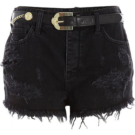 River Island black denim shorts - what to wear to a festival - festival fashion - shopping bag - handbag