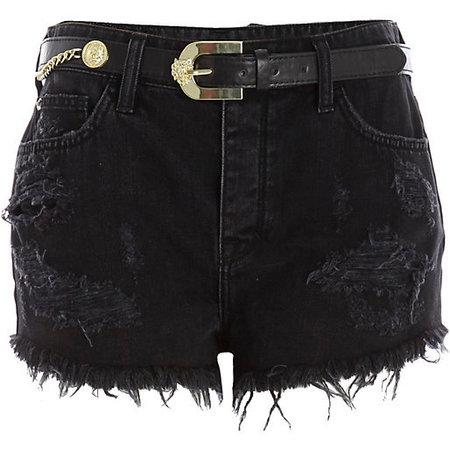 River Island black denim shorts - what to wear to a festival - festival fashion - shopping bag - handbag