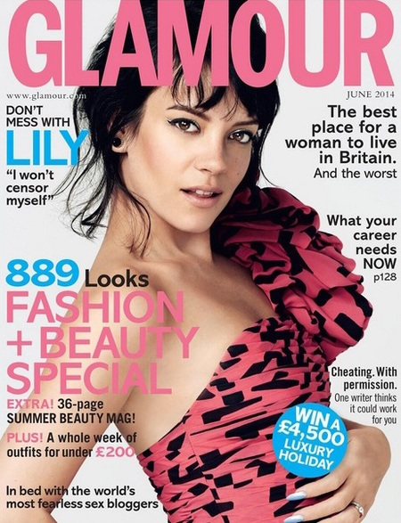 lily allen for Glamour Magazine on twitter - reveals reasons for comeback - celeb news - day bag - handbag.com