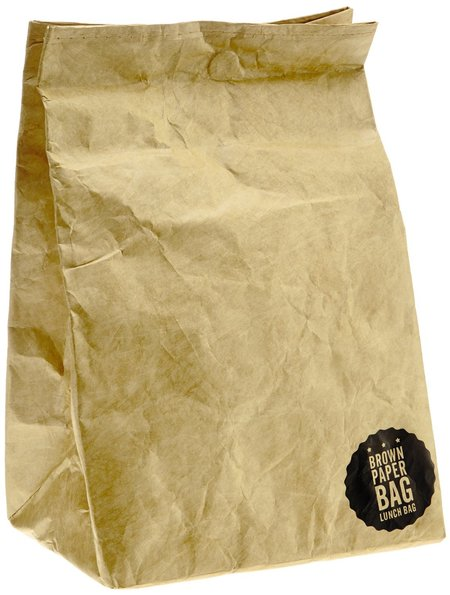 luckies brown paper lunch bag - totally rad lunch boxes - shopping bag - handbag