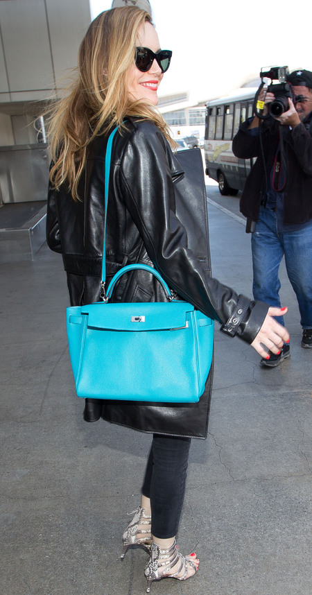 leslie mann-the other woman-hermes-kelly handbag-blue bag-celebrity designer handbags-classic handbags - handbag.com