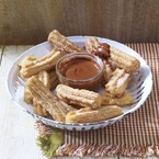 Cinnamon churros & choc chilli sauce recipe