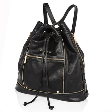festival bags-black backpack-river island-rucksack - handbag.com