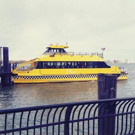 Dior cruise boat - twitter - handbag.com