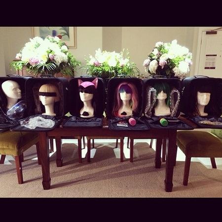 Katy Perry - wigs - tour hair - prismatic - handbag.com