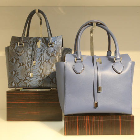 michael kors-blue and snake skin print bag-shaghai-designer handbag store opening-handbag.com