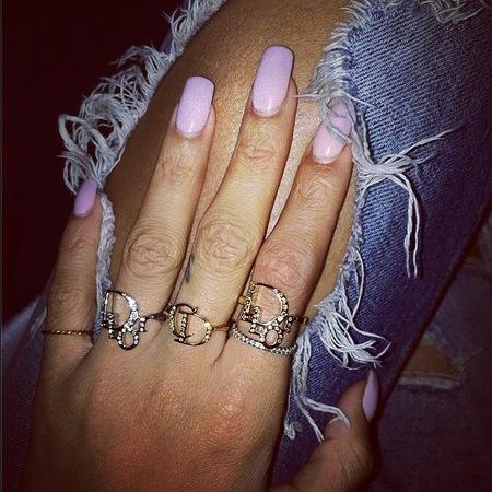 Rihanna's lilac nails