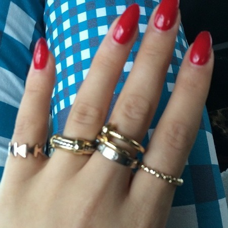 Rita Ora's Raw As The Night red nails