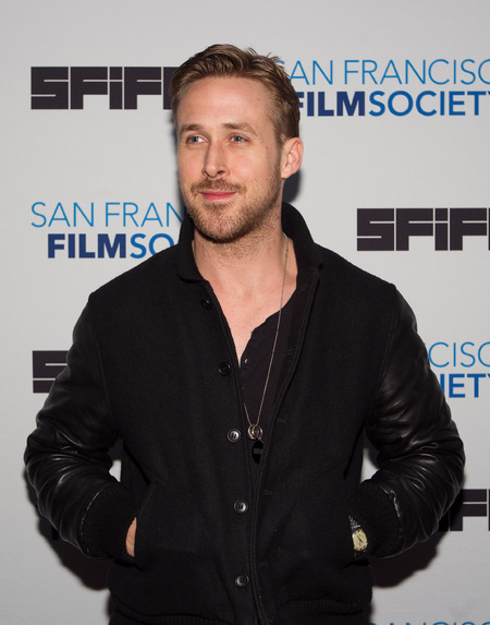 Ryan Gosling wearing dog tag at film premiere - does ryan gosling love his god more than eva mendes - day bag - handbag