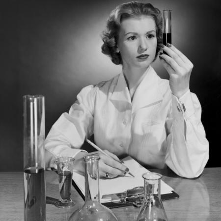 Female scientist - women in work - women in science - vintage woman - female careers - handbag.com